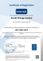 Zenith gains ISO 14001-2015 accreditation